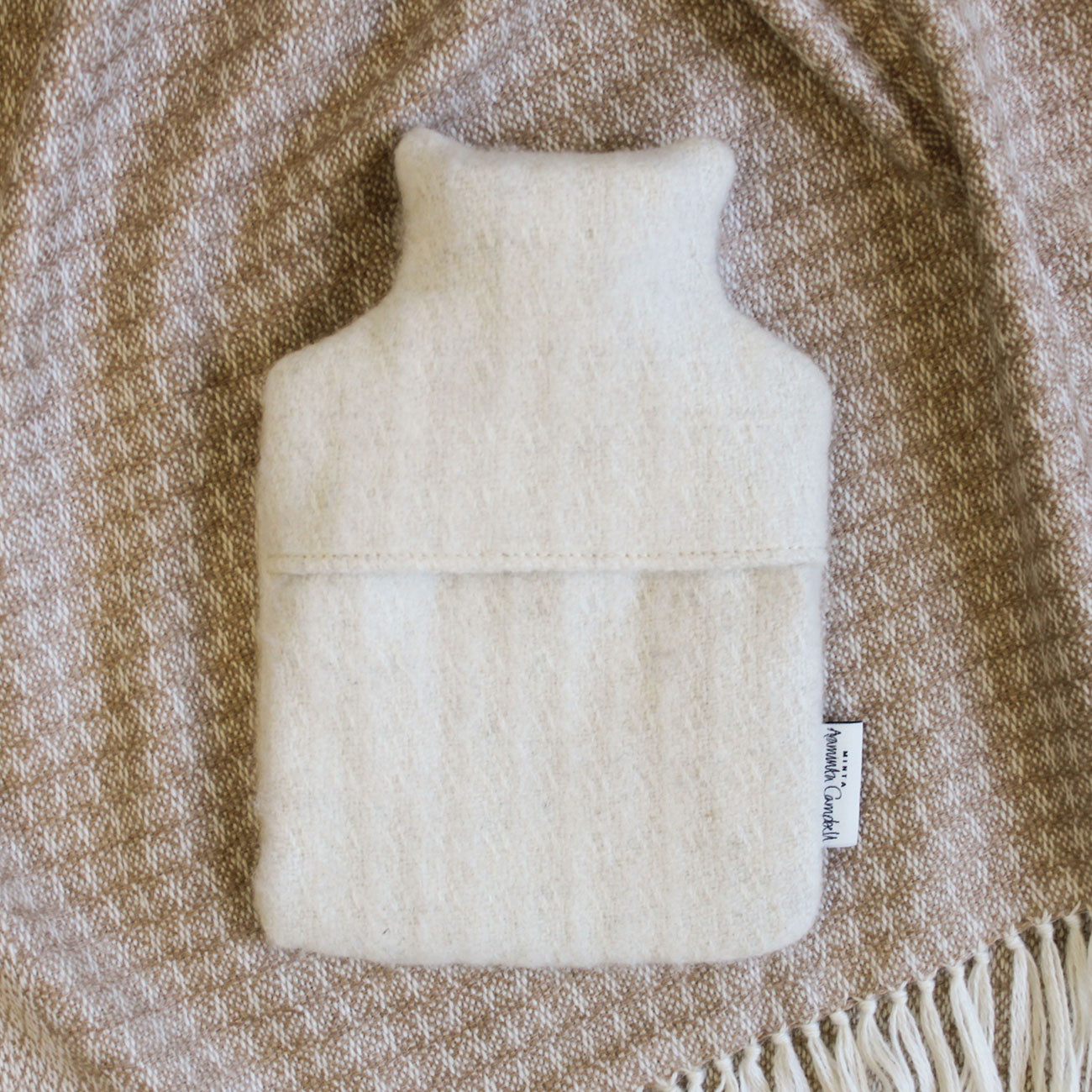 Hot Water Bottle - Natural White Alpaca - 0