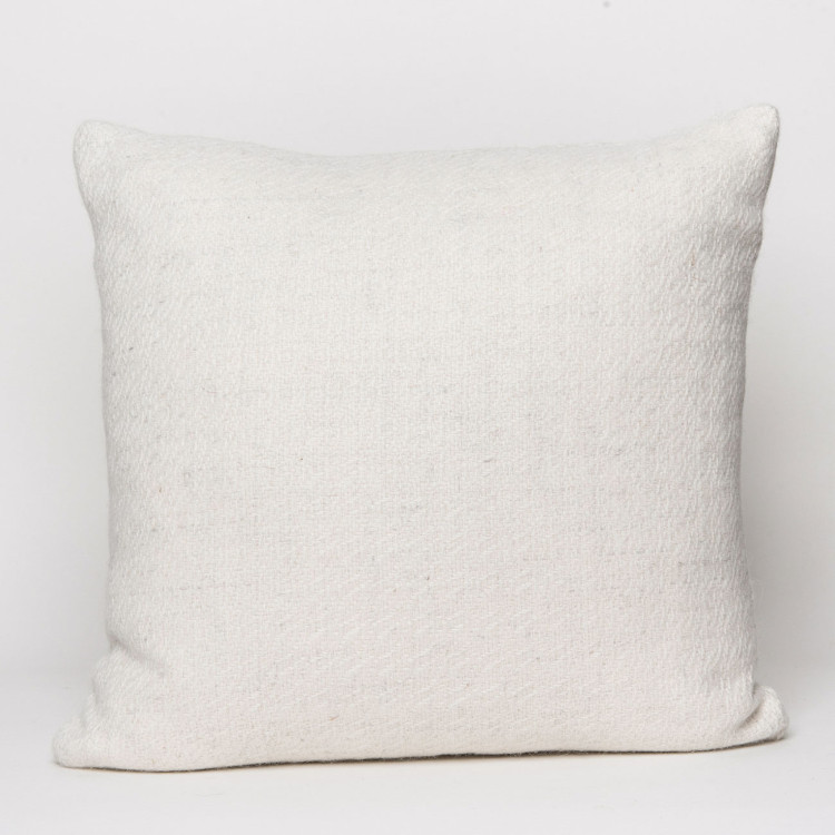 Fern Square Cushion - Natural White Alpaca - 0
